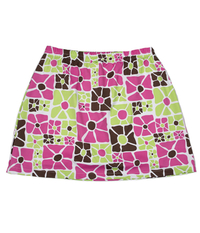 Image My Mod Floral A Line Skirt with Shorts - Size Large - Custom