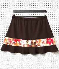Image Tropical Paradise and Brown Rally Ruffle Skirt - No Shorts - SALE!