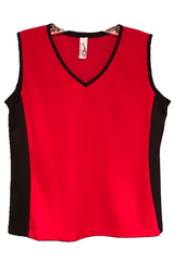 Image Custom Sporty Red and Black Edge Tennis Top - Sassy Shot Team