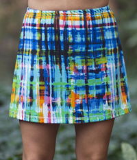 Image Size Medium - The Blues A Line Skirt with Attached Black Shorts