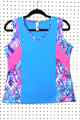 Image Size Medium - Sporty Turquoise, Neon Pink and Fun Challenger - Extra Length