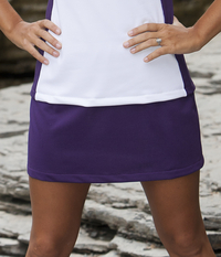 Image Size Small - A Line Tennis Skirt Featured In Aubergine - No Shorts