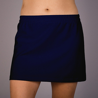 Image The Soft Navy Cotton A Line Tennis Skirt - No Shorts - 30% Off
