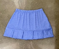 Image Size Large Plus - Blue Fusion Pleated Tennis Skirt with Left Pocket
