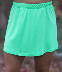 Image Size 2X - Limelight Panel Skirt - With White Attached Shorts