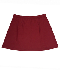 Image A Beautiful A Line Skirt featured in Garnet with Shorts - NEW fabric, on SALE!