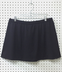Image Size 1X - Panel Skirt featured in Black with Shorts - Shorter Length