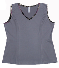 Image Size Large - Princess Tennis Top Featured in Pearl and Animal Abstract