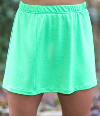 Image a Fav Panel Tennis Skirt in Limelight and White Shorts