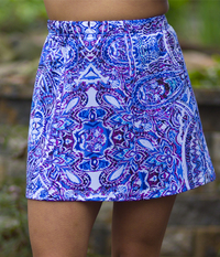 Image a Cute Panel Tennis Skirt With Shorts in Mahalo or Tidal Wave - Sale!