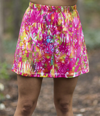 Image A Line Tennis Skirt With Shorts Featured in Pink Color Run - NEW PRINT, 2018!