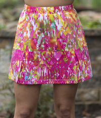 Image a Happy Court Classic Skirt featured in Pink Color Run With Shorts