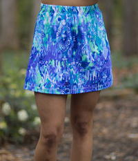 Image A Line Tennis Skirt Featured in Watercolor - No Shorts  - Brand New Print!