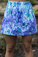 Image Size Small - Watercolor A Line Skirt - No Shorts - Larger Hips!