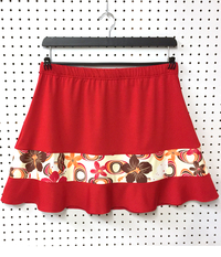 Image Tropical Paradise and Red Rally Ruffle Skirt - No Shorts - SALE!