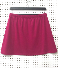 Image Fuchsia Cotton A Line Tennis Skirt - With Black Shorts - 30% Off