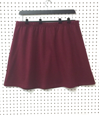 Image The A Line Skirt in Burgundy Cotton with Shorts - NEW fabric, on SALE!