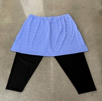 Image Size 2X - Blue Fusion FTM Skirt with Attached Black Capris - Shallow Pockets