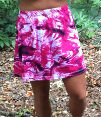 Image A Line Skirt featured in Pinkadelic with Attached Black Shorts