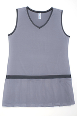 Image Custom Pearl and Charcoal Vintage Pleated Tennis Dress - Bradenton Beach, FL