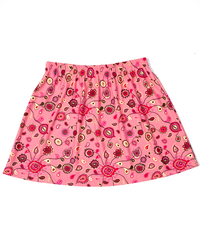 Size Medium - A Line Skirt Featured in Coral and Pink Paisley - No Shorts