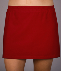 Red A Line Tennis Skirt With Built In Compression Shorts