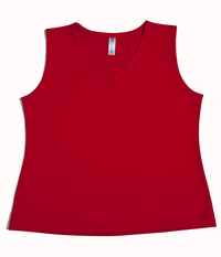 Image Custom Paprika V Neck Tennis Top -  Napa, California - SALE!