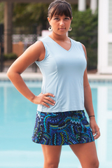 Smoky Blue Princess Tennis Top