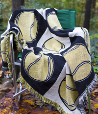 Image 100% Cotton Tennis Blanket - Made in the USA - Only 2 Blankets Left!