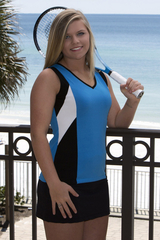 Image Size XSmall -  Challenger Tennis Top Featured in Turquoise Blue