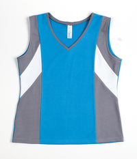 Image Custom Sporty Turquoise and Pearl Challenger Tennis Top - Johnstown, PA