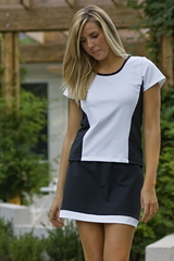 Image A Wave Tennis Top featuring Cap Sleeves