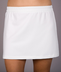 White Nylon Lycra A Line Tennis Skirt - Without Shorts
