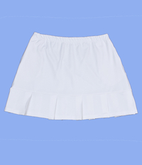 Size 1X - Pleated White Skirt - No Shorts - With Pockets