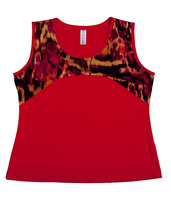 Image Custom Wildfire and Paprika Yoke Top -  Napa, California - SALE!