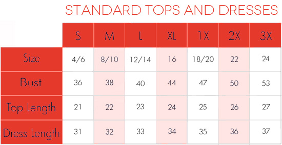 Size Charts Tips On Measuring  AdintennisCom